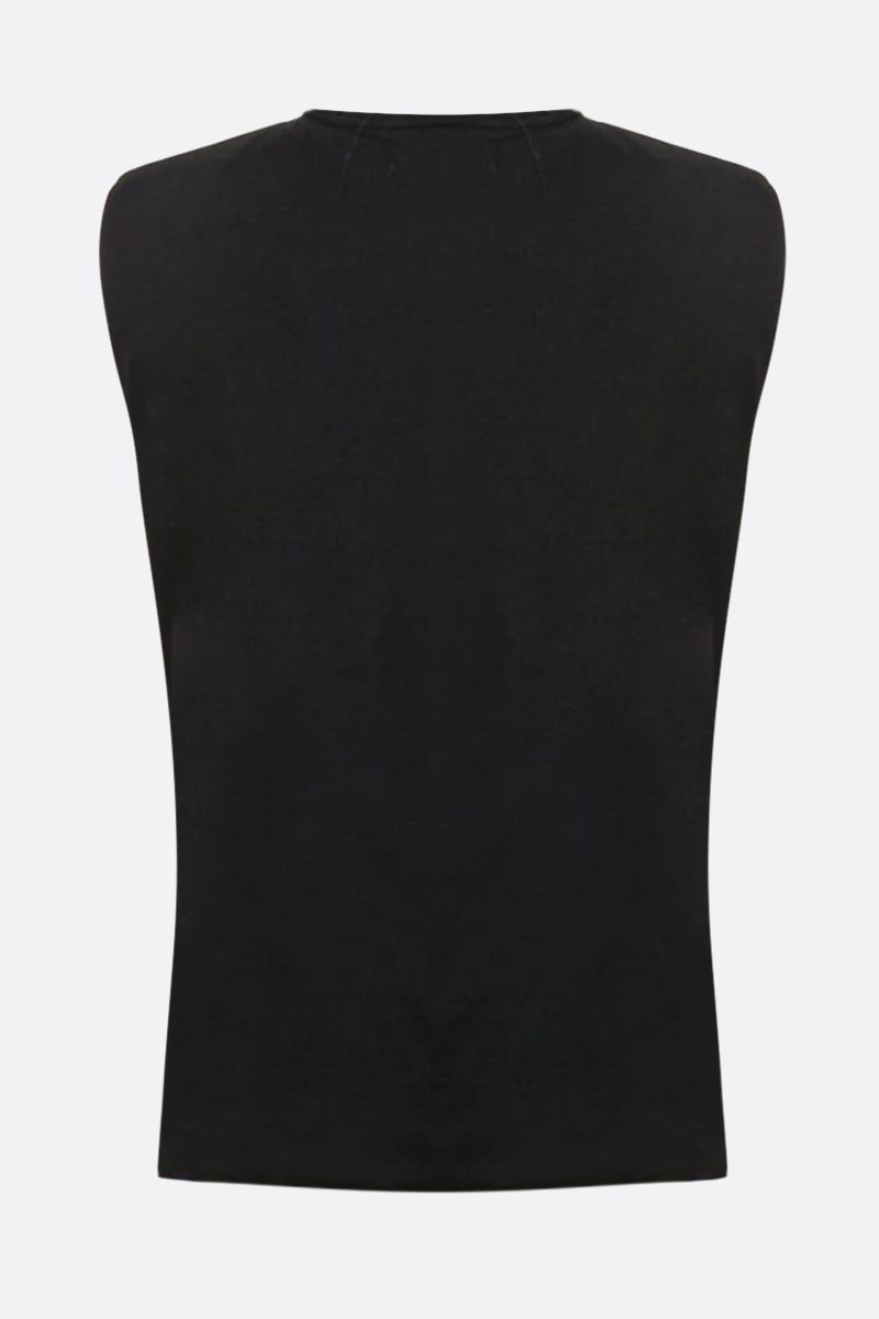 FEDERICA TOSI: cotton sleeveless t-shirt Color Black_2