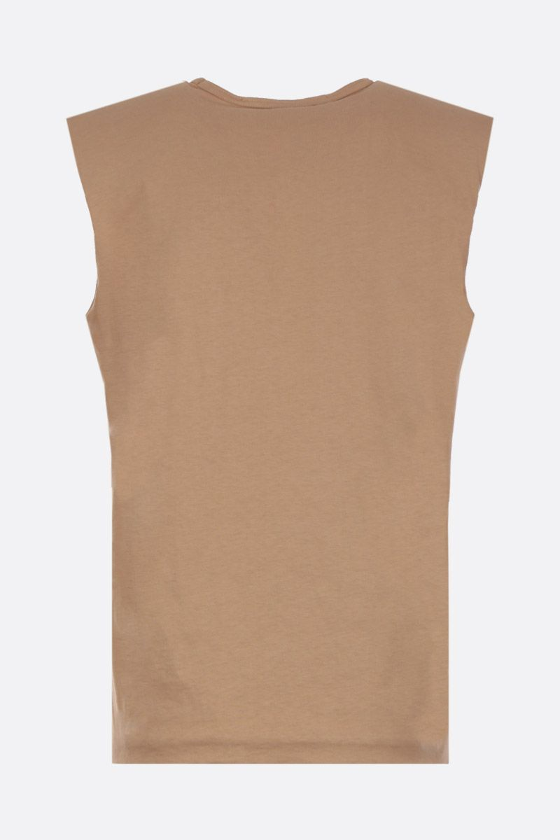 FEDERICA TOSI: cotton sleeveless t-shirt Color Neutral_2