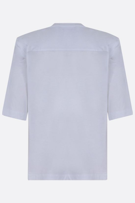 FEDERICA TOSI: shoulder pads cotton t-shirt Color White_2
