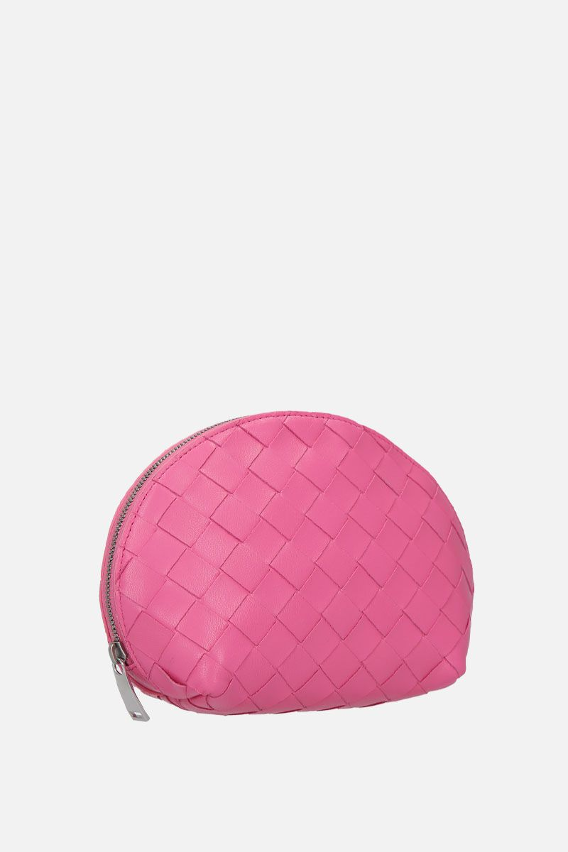BOTTEGA VENETA: beauty case in Intrecciato nappa Colore Rosa_2