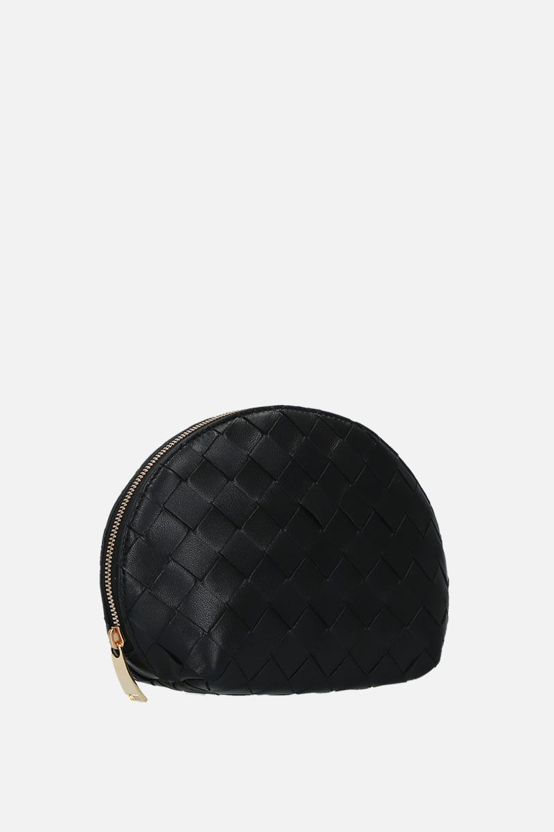 BOTTEGA VENETA: Intrecciato nappa beauty case Color Black_2
