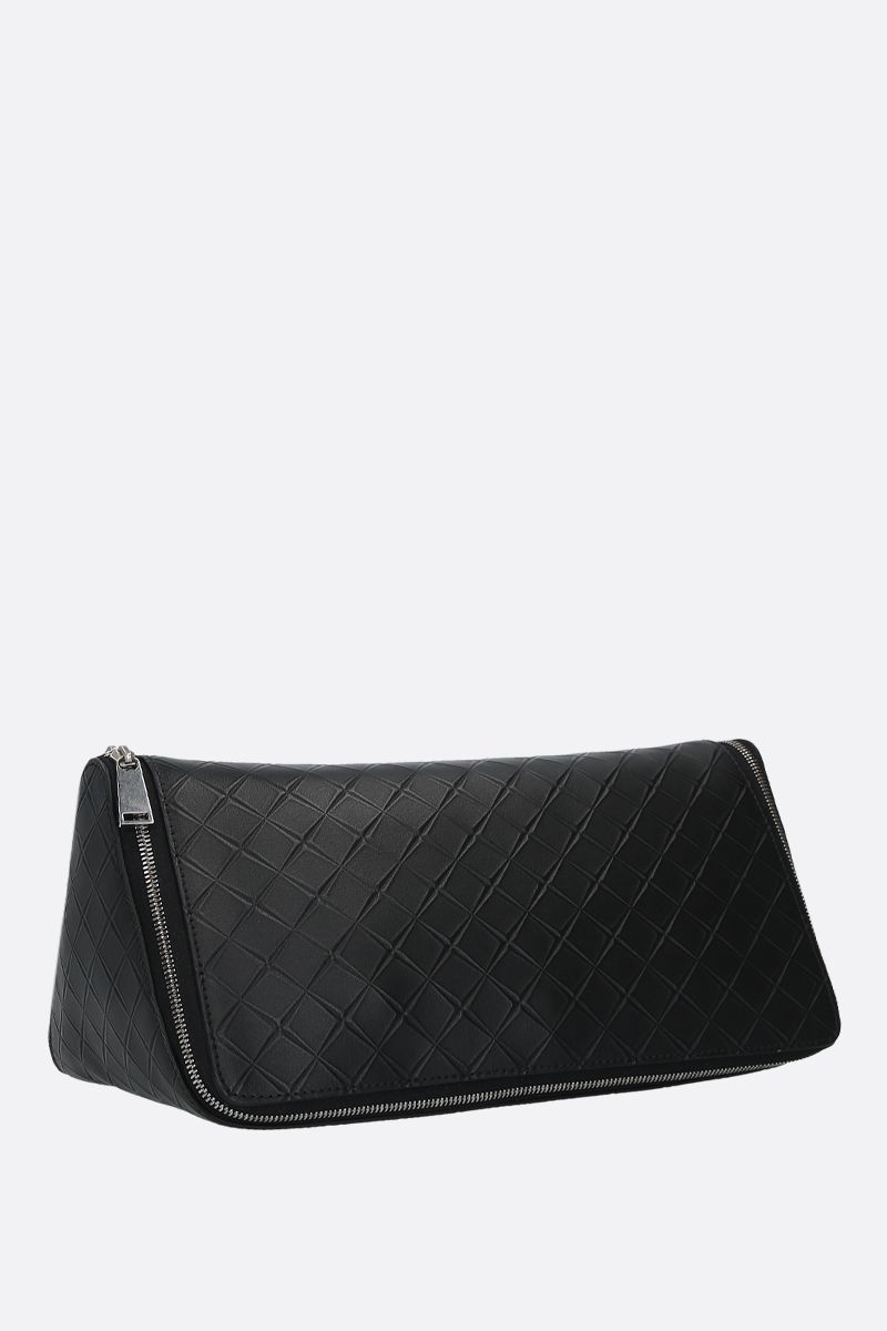 BOTTEGA VENETA: embossed Maxi Intrecciato beauty case Color Black_2