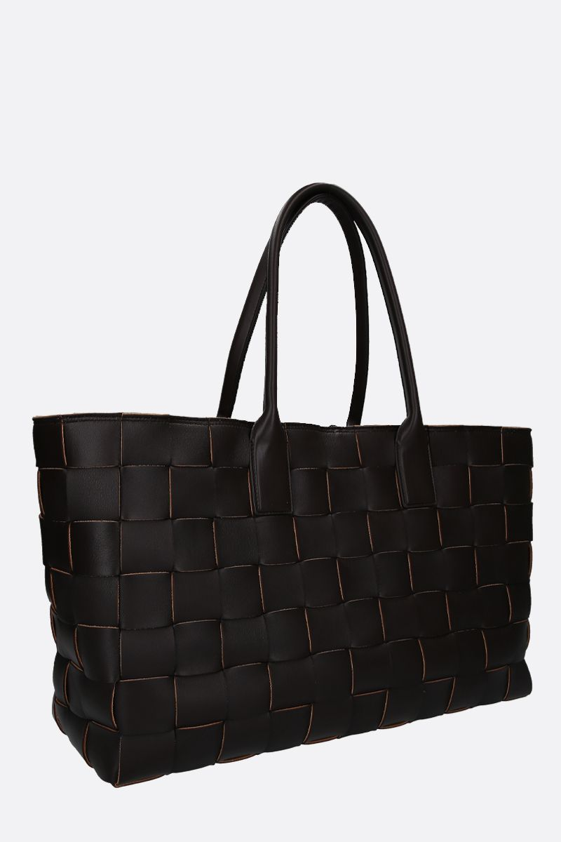 BOTTEGA VENETA: medium tote in Maxi Intrecciato Color Brown_2