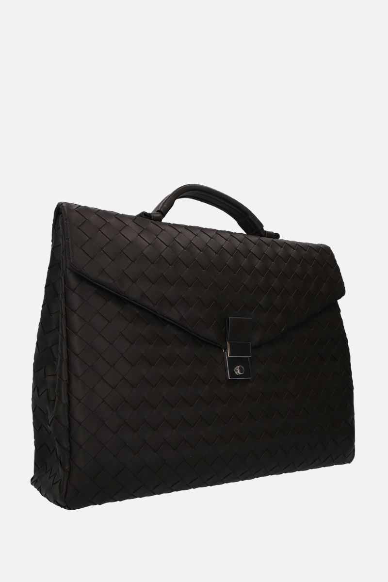 BOTTEGA VENETA: Intrecciato nappa business bag Color Multicolor_2