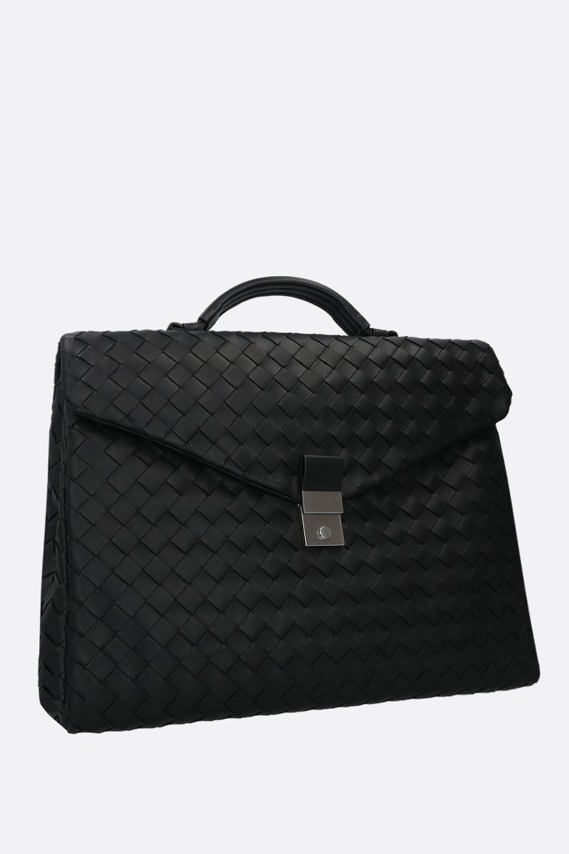 BOTTEGA VENETA: Intrecciato nappa business bag Color Black_2
