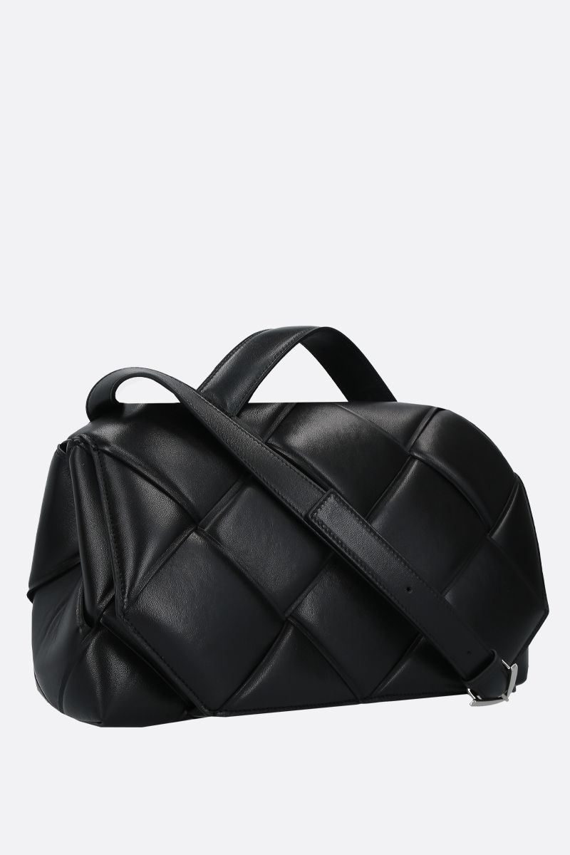 BOTTEGA VENETA: padded Intrecciato nappa handbag Color Black_2