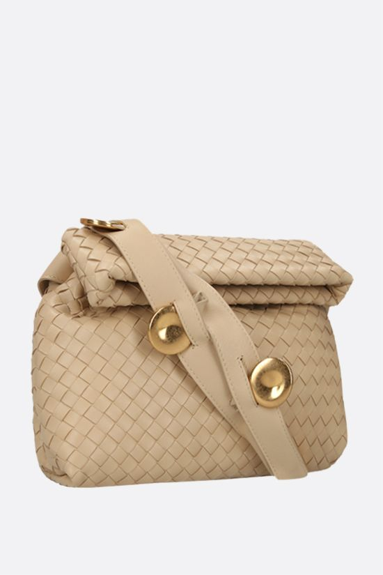 BOTTEGA VENETA: BV Fold crossbody bag in Intrecciato nappa Color Neutral_2
