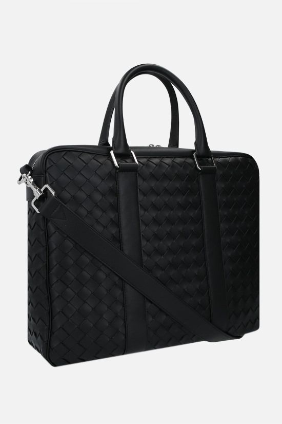 BOTTEGA VENETA: Intrecciato Hidrology business bag Color Black_2