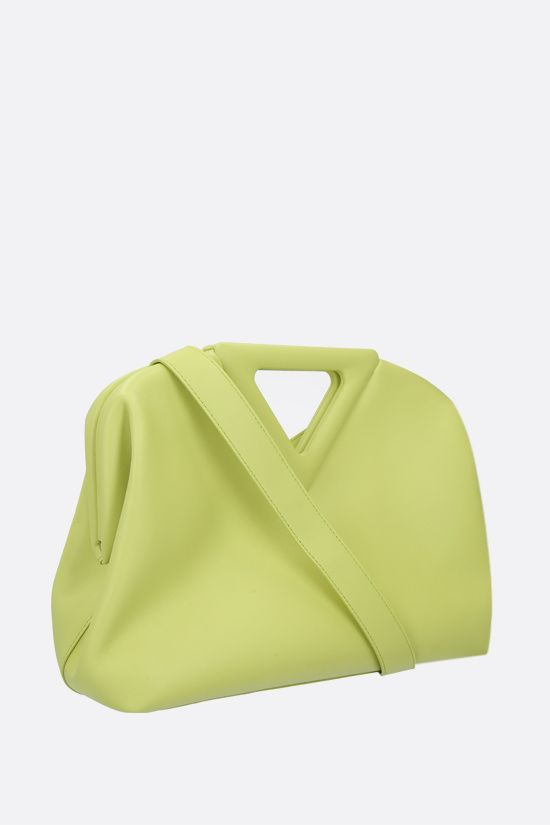 BOTTEGA VENETA: borsa a mano Point media in pelle liscia Colore Verde_2