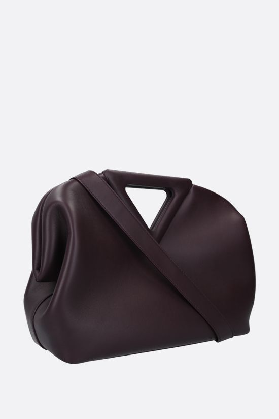 BOTTEGA VENETA: The Triagle smooth leather handbag Color Purple_2