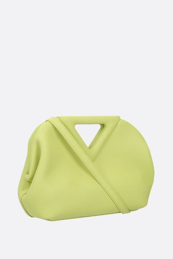 BOTTEGA VENETA: borsa a mano Point mini in pelle liscia Colore Verde_2