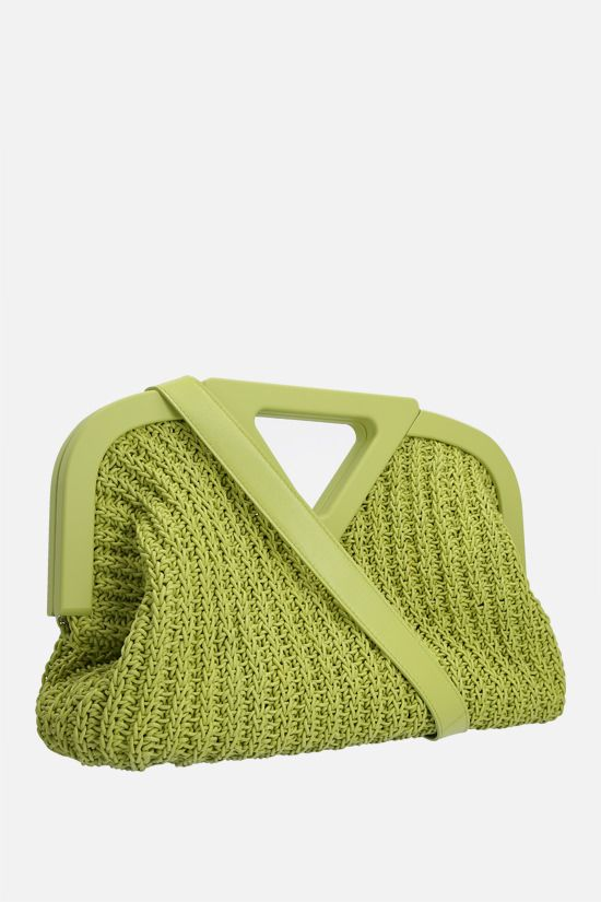 BOTTEGA VENETA: Point medium crochet nappa handbag Color Green_2