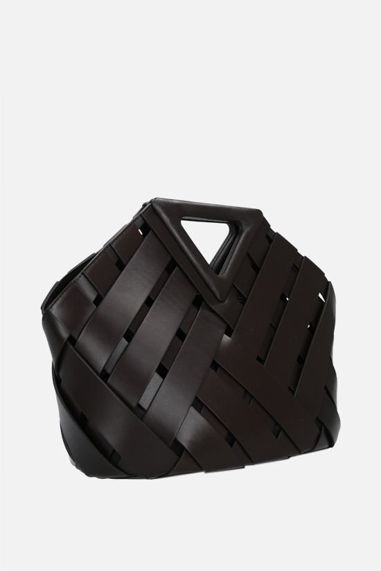 BOTTEGA VENETA: Basket Point handbag in Intrecciato leather Color Brown_2