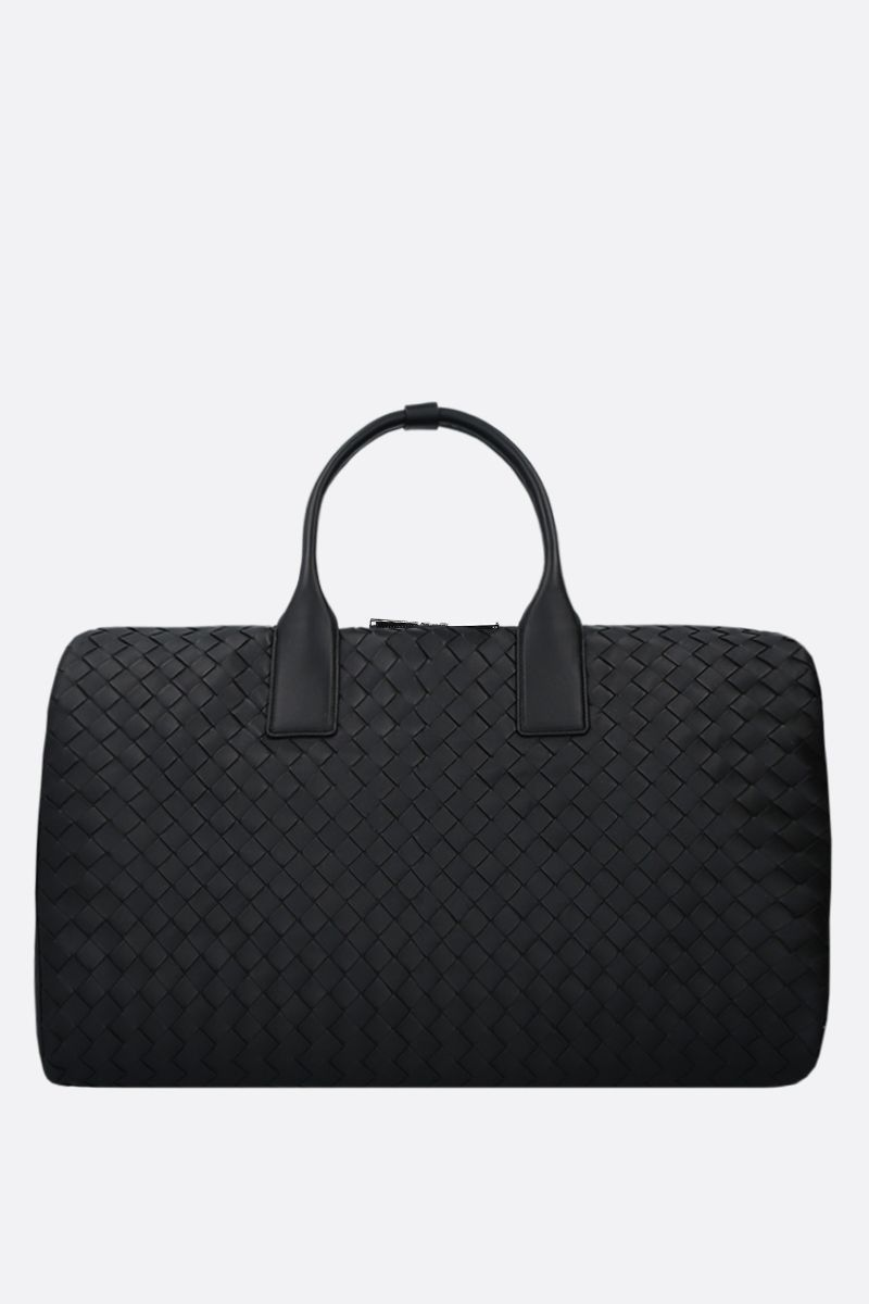 BOTTEGA VENETA: Intrecciato nappa travel bag Color Black_1