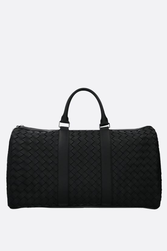 BOTTEGA VENETA: borsa weekend in Intrecciato Hidrology Colore Nero_1