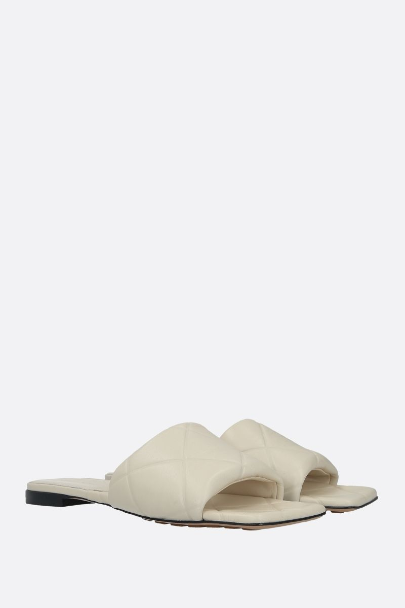 BOTTEGA VENETA: quilted nappa flat sandals_2