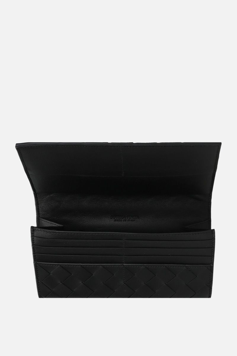 BOTTEGA VENETA: Intrecciato nappa continental wallet Color Black_2