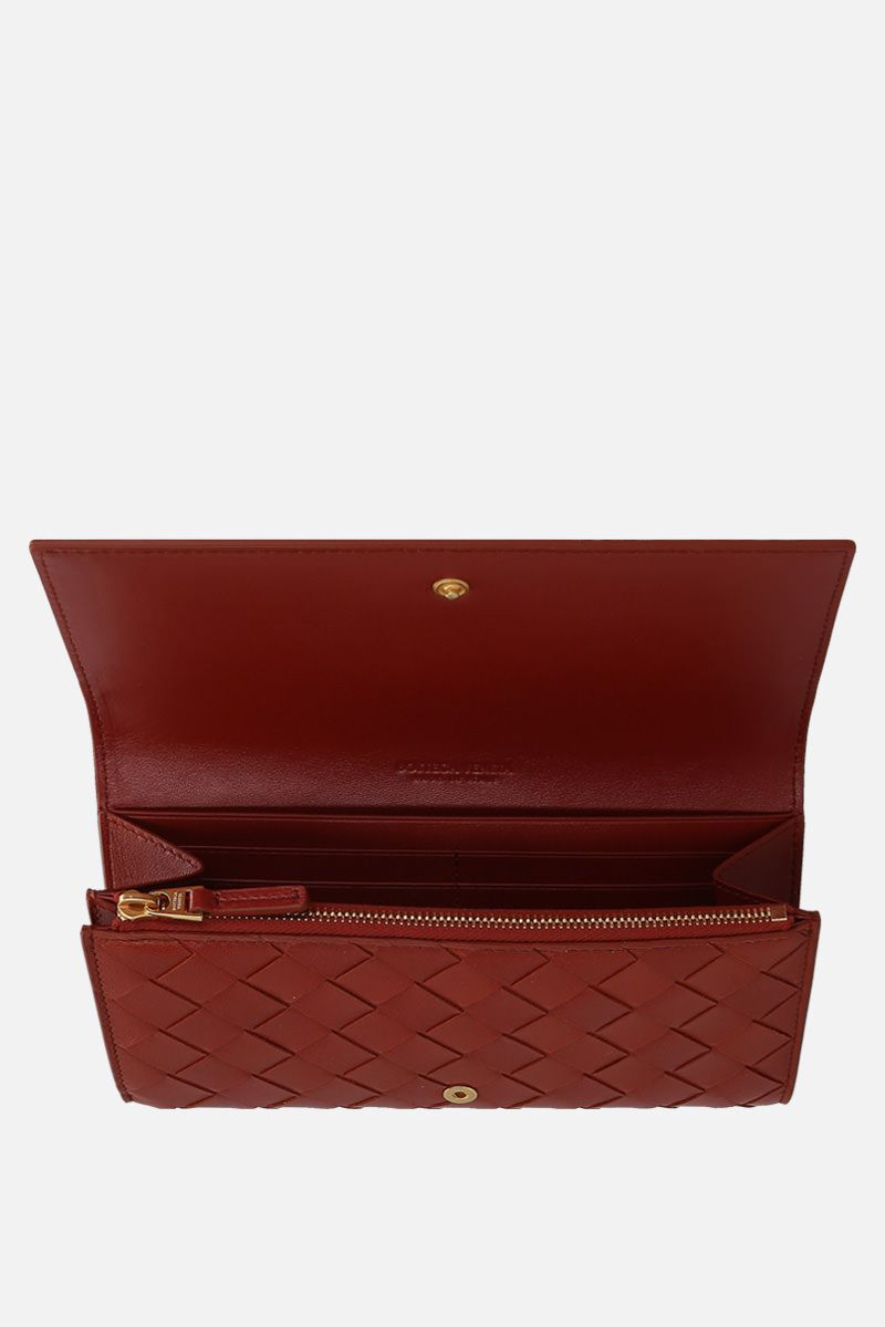 BOTTEGA VENETA: Intrecciato nappa continental wallet Color Red_2