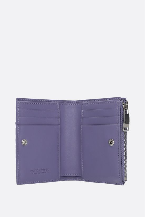 BOTTEGA VENETA: Intrecciato nappa flap wallet Color Purple_2