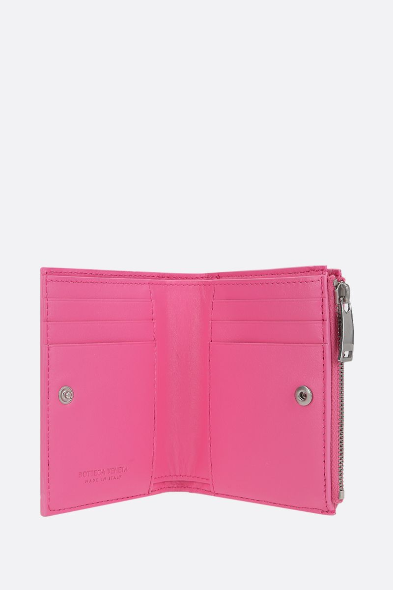 BOTTEGA VENETA: Intreciato nappa flap wallet Color Pink_2