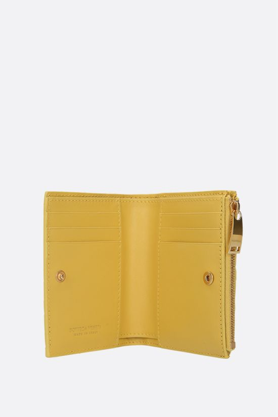 BOTTEGA VENETA: Intrecciato nappa flap wallet Color White_2