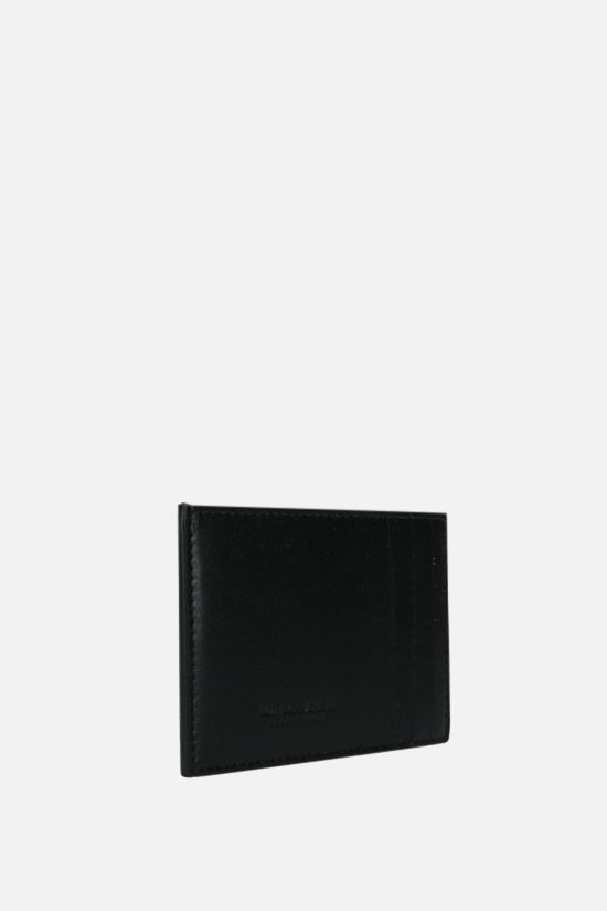 BOTTEGA VENETA: Maxi Intrecciato VN card case Color Black_2