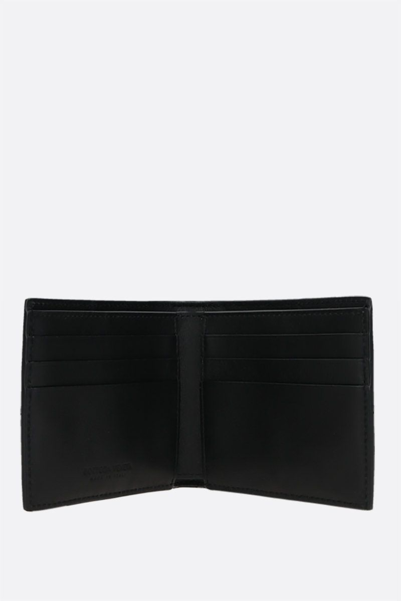 BOTTEGA VENETA: Maxi Intrecciato billfold wallet Color Black_2