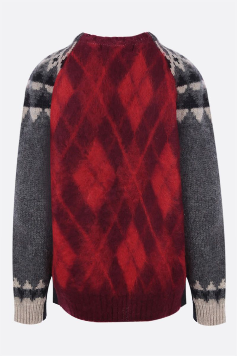 JUNYA WATANABE: pullover oversize in jacquard Colore Grey_2