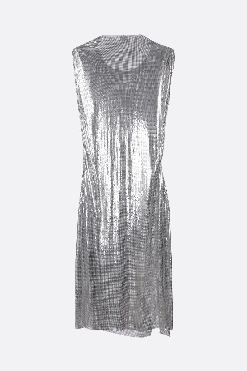 PACO RABANNE: metal mesh sleeveless dress Color Silver_2