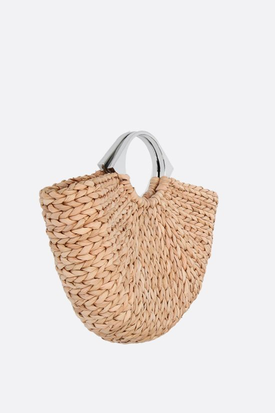 PACO RABANNE: Op'art corn husk basket bag Color Brown_2