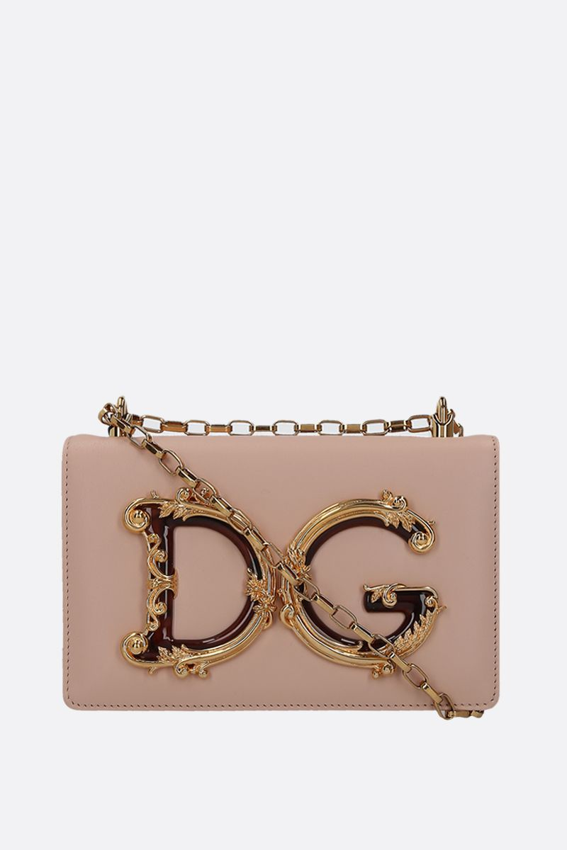 DOLCE & GABBANA: DG Girls crossbody bag in smooth leather Color Neutral_1