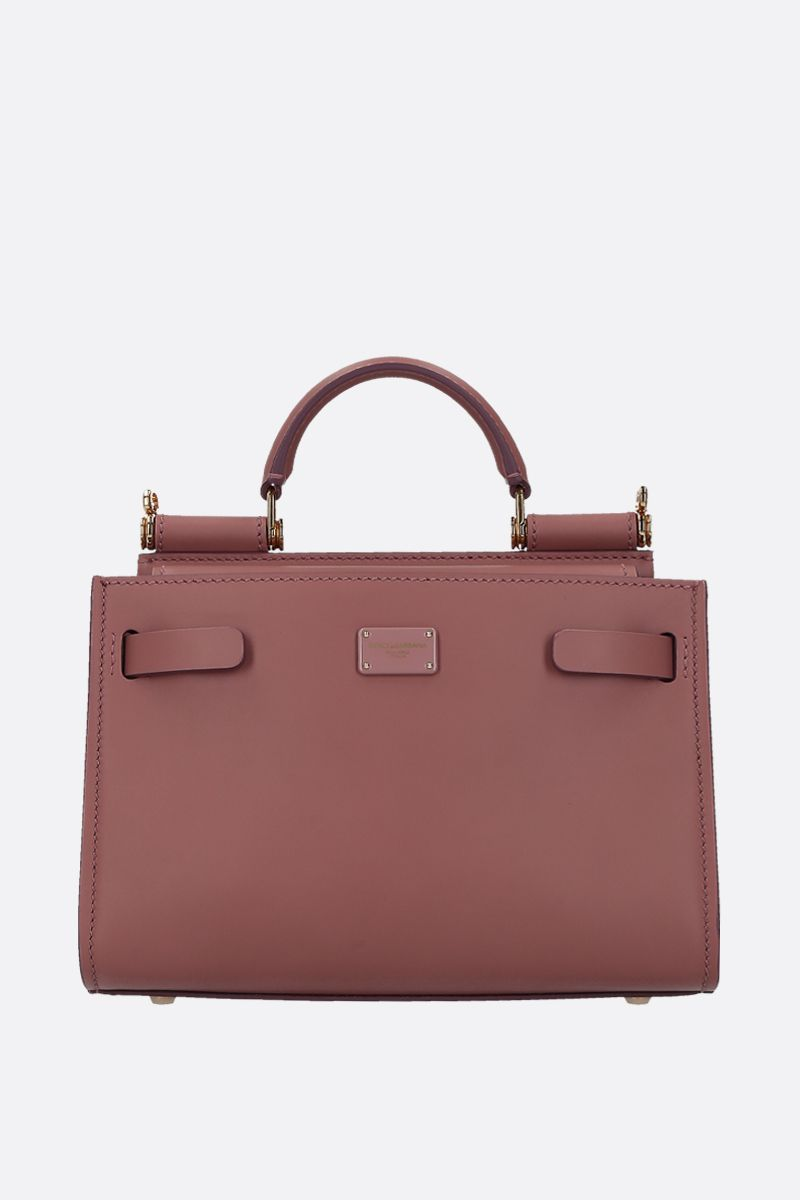 DOLCE & GABBANA: Sicily 62 mini smooth leather top handle bag Color Pink_1