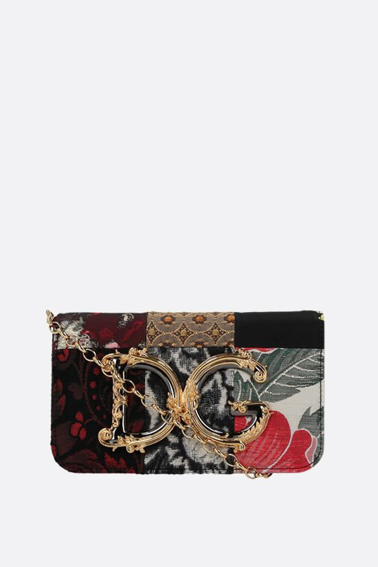 DOLCE & GABBANA: DG Girls crossbody bag in a fabric patchwork and snakeskin Color Purple_1