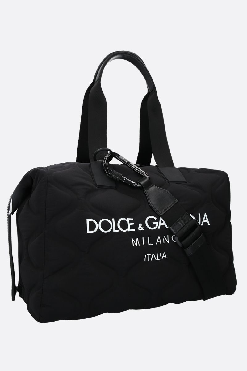 DOLCE & GABBANA: Palermo Tecnico nylon weekend bag Color Black_2