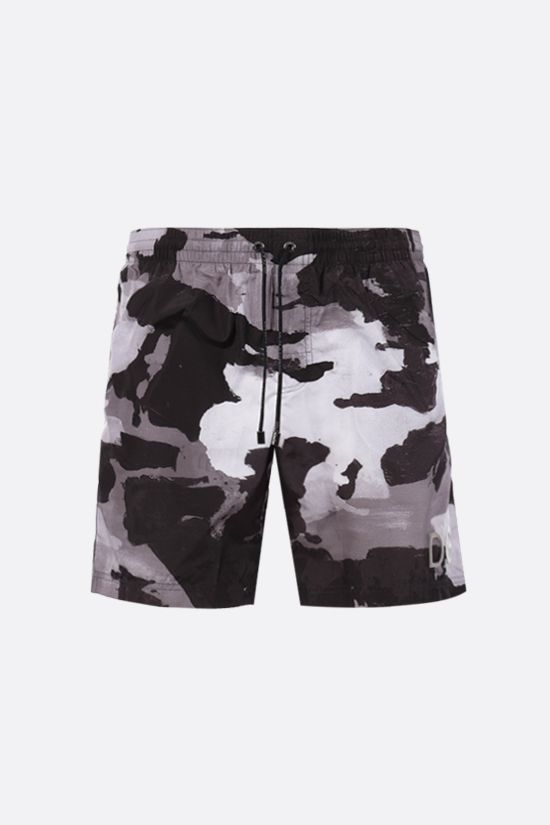 DOLCE & GABBANA: camouflage print nylon swim shorts Color Multicolor_1