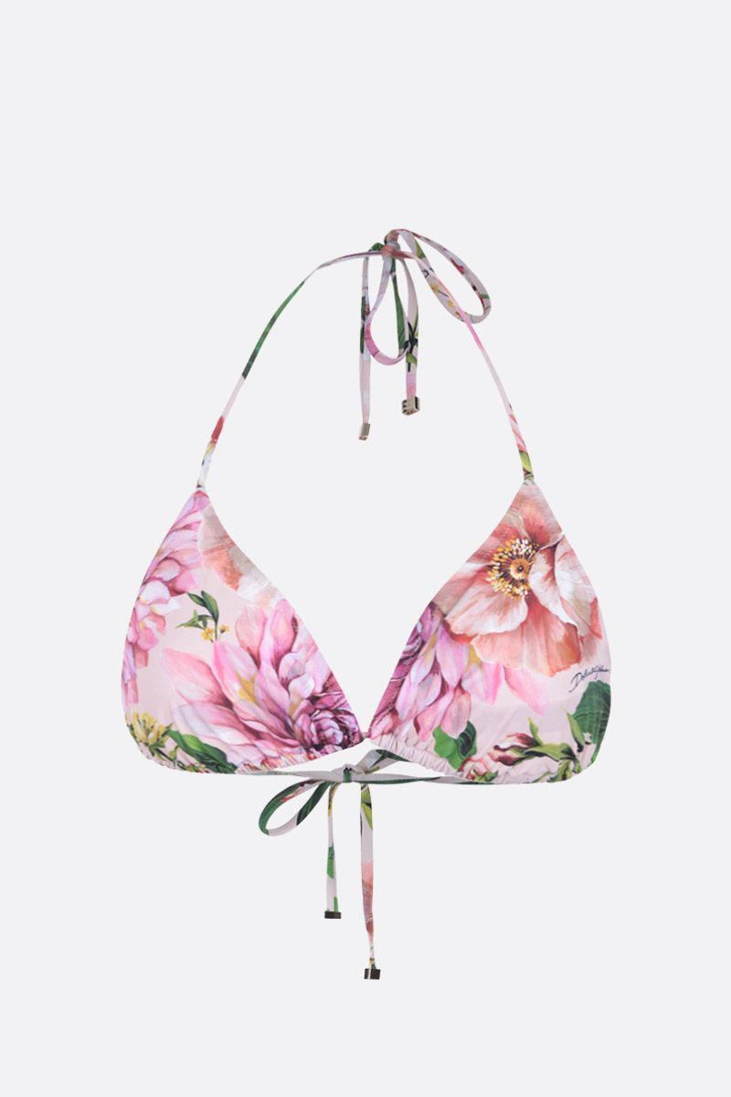 DOLCE & GABBANA: floral print lycra triangle top_1