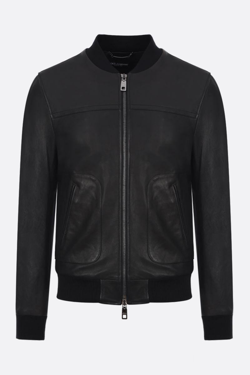 DOLCE & GABBANA: bomber jacket in soft nappa Color Black_1