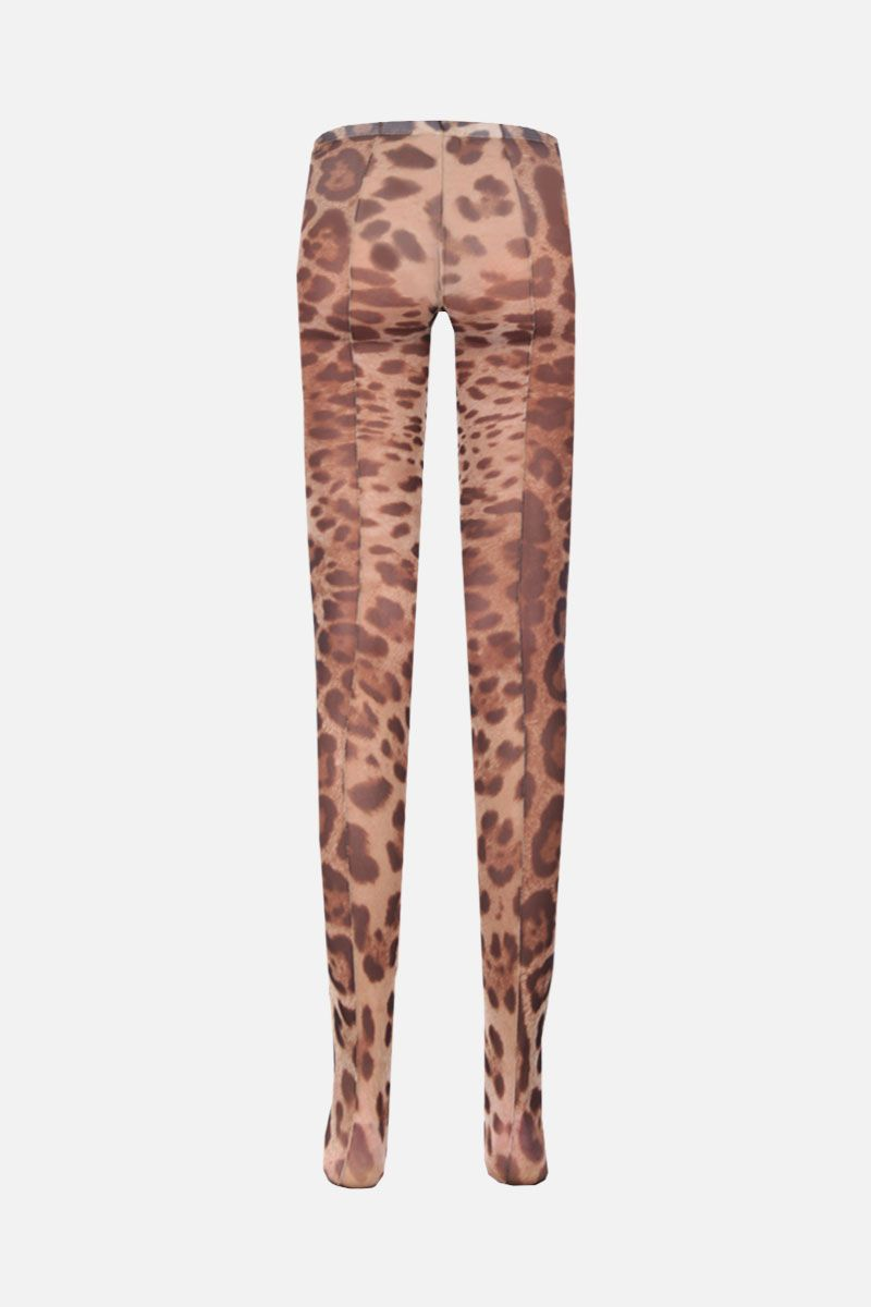 DOLCE & GABBANA: leopard print nylon tights Color Animalier_2