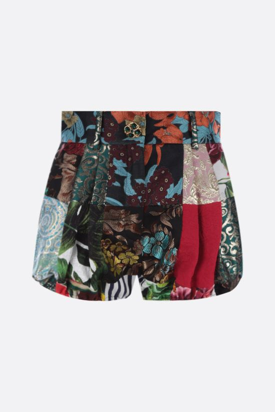 DOLCE & GABBANA: patchwork brocade and jacquard shorts Color Multicolor_1