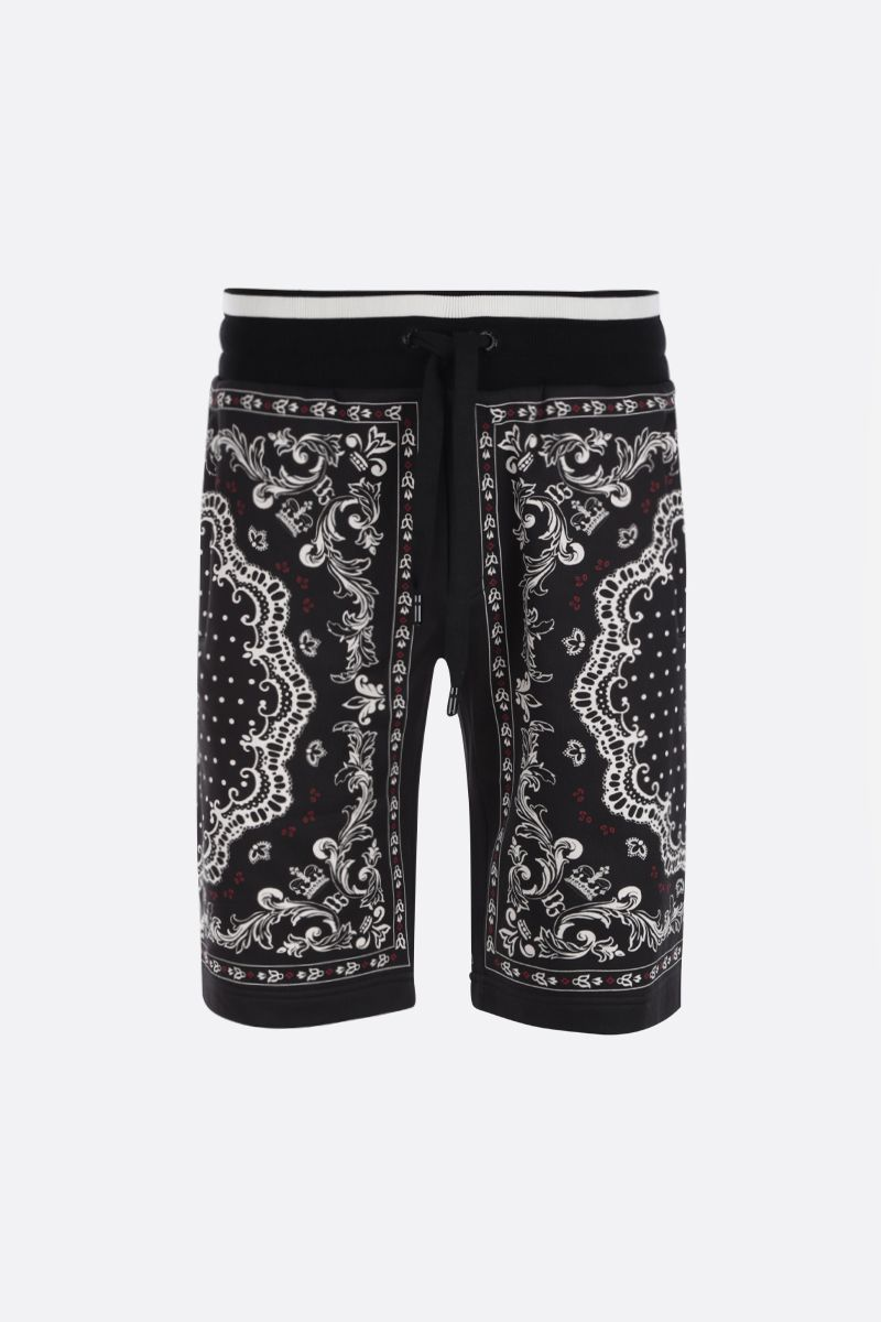 DOLCE & GABBANA: Bandana print cotton shorts Color Multicolor_1