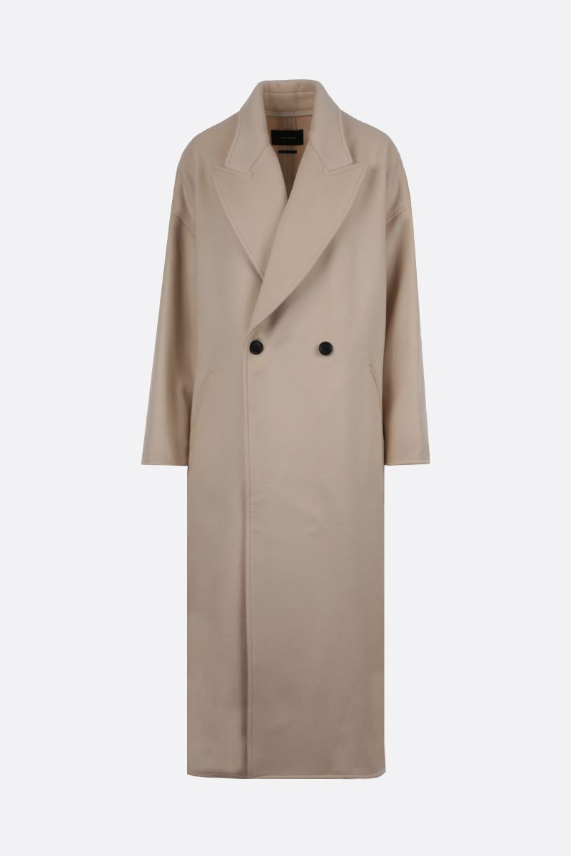 ISABEL MARANT: Elliot oversize wool cashmere blend double-breasted coat Color Neutral_1