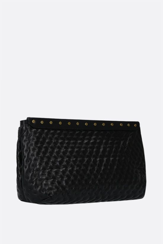 ISABEL MARANT: Luz quilted nappa pouch Color Black_2