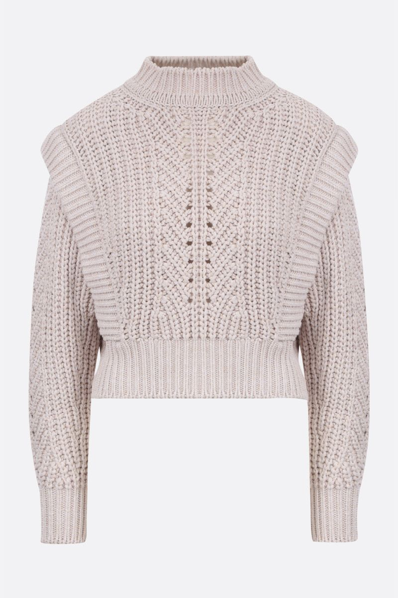ISABEL MARANT: Prune cotton blend pullover Color Neutral_1