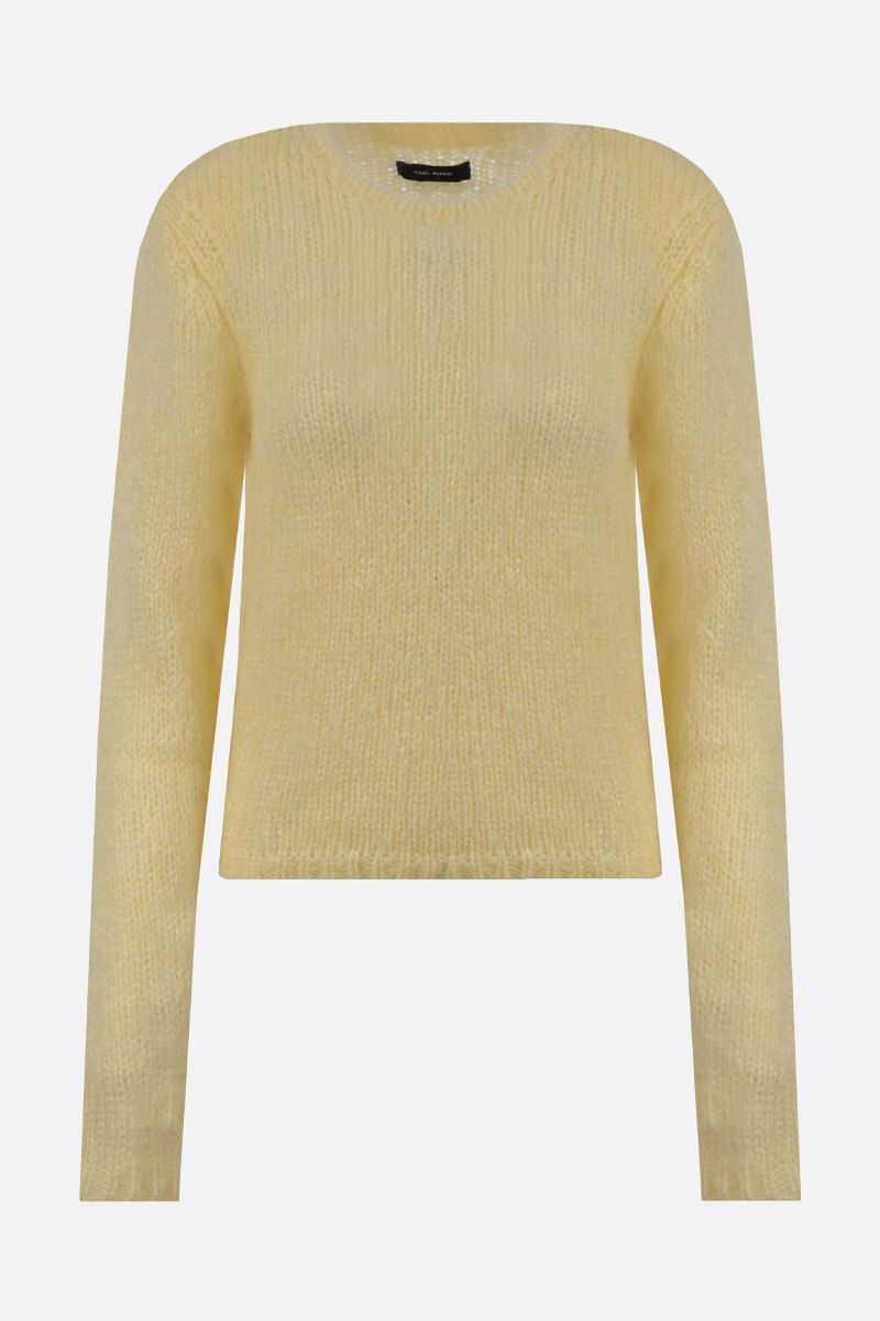 ISABEL MARANT: Erin mohair blend pullover Color Yellow_1