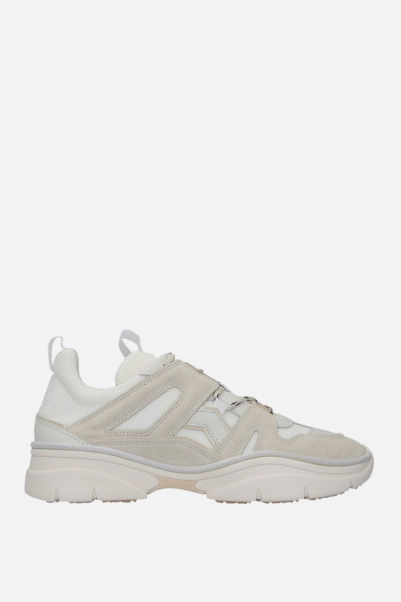 ISABEL MARANT: Kindsay sneakers in mesh and suede Color Neutral_1