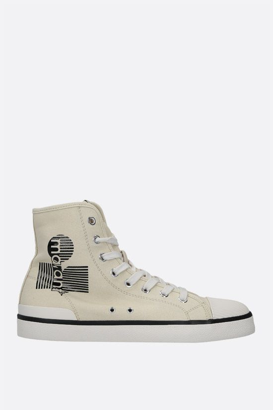 ISABEL MARANT: Benkeen canvas high-top sneakers Color Neutral_1