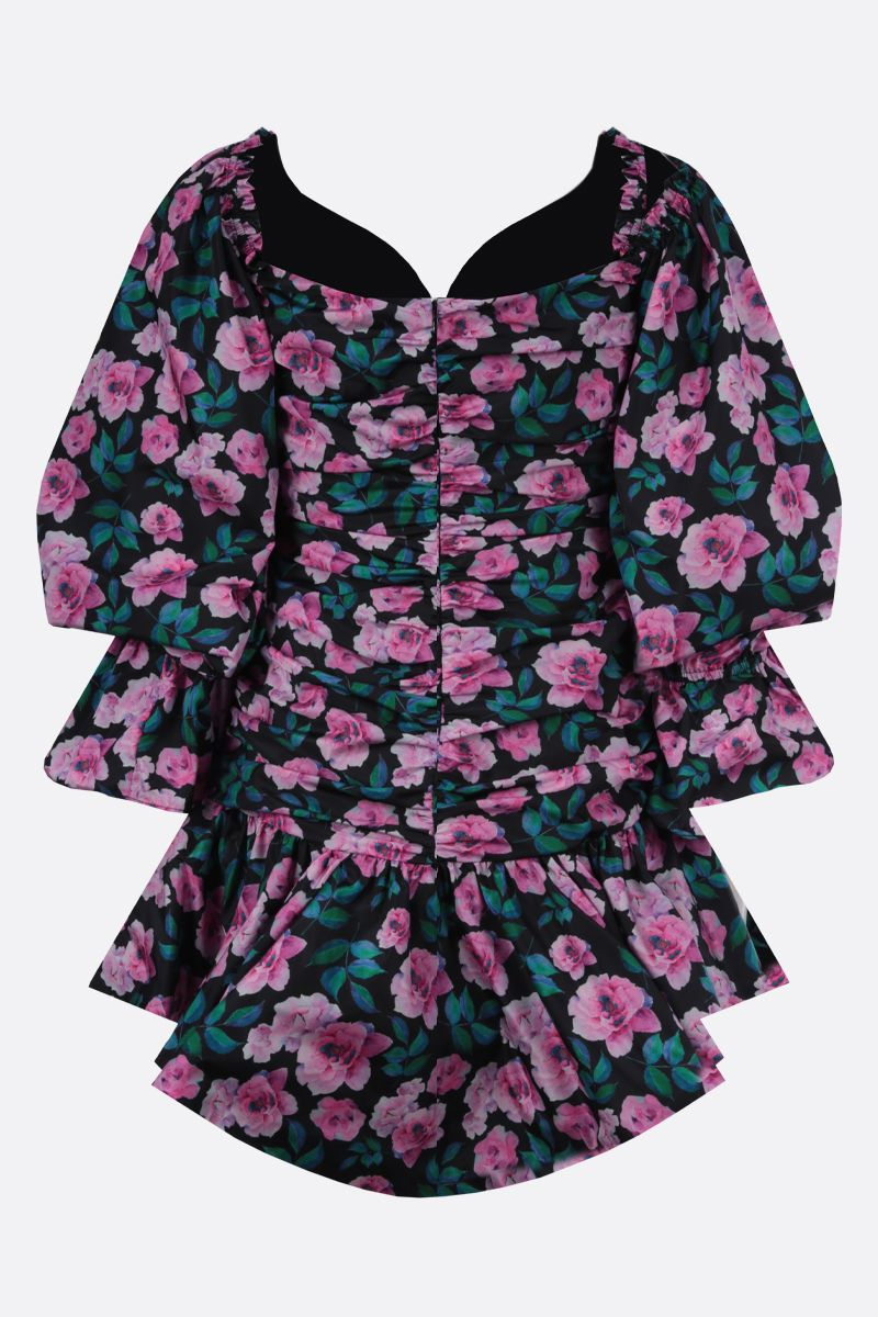 GIUSEPPE DI MORABITO: floral print taffetà draped minidress Color Multicolor_2