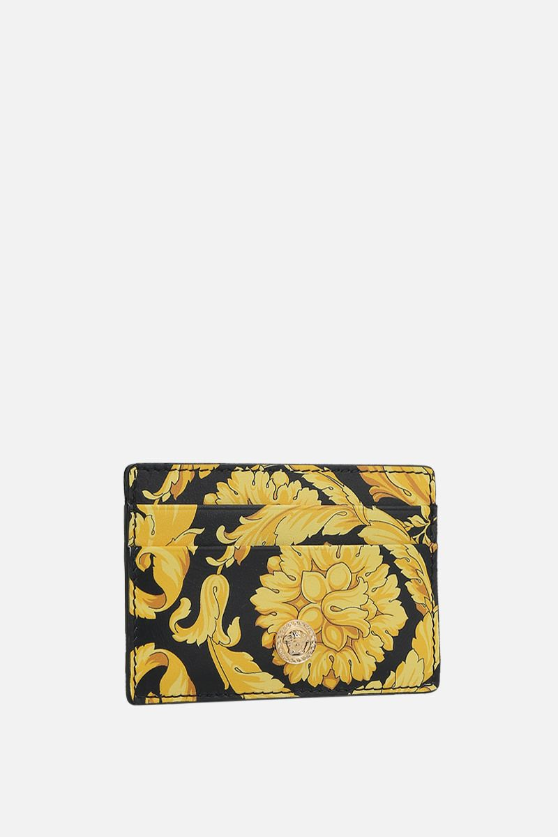 VERSACE: Barocco print smooth leather card case_2