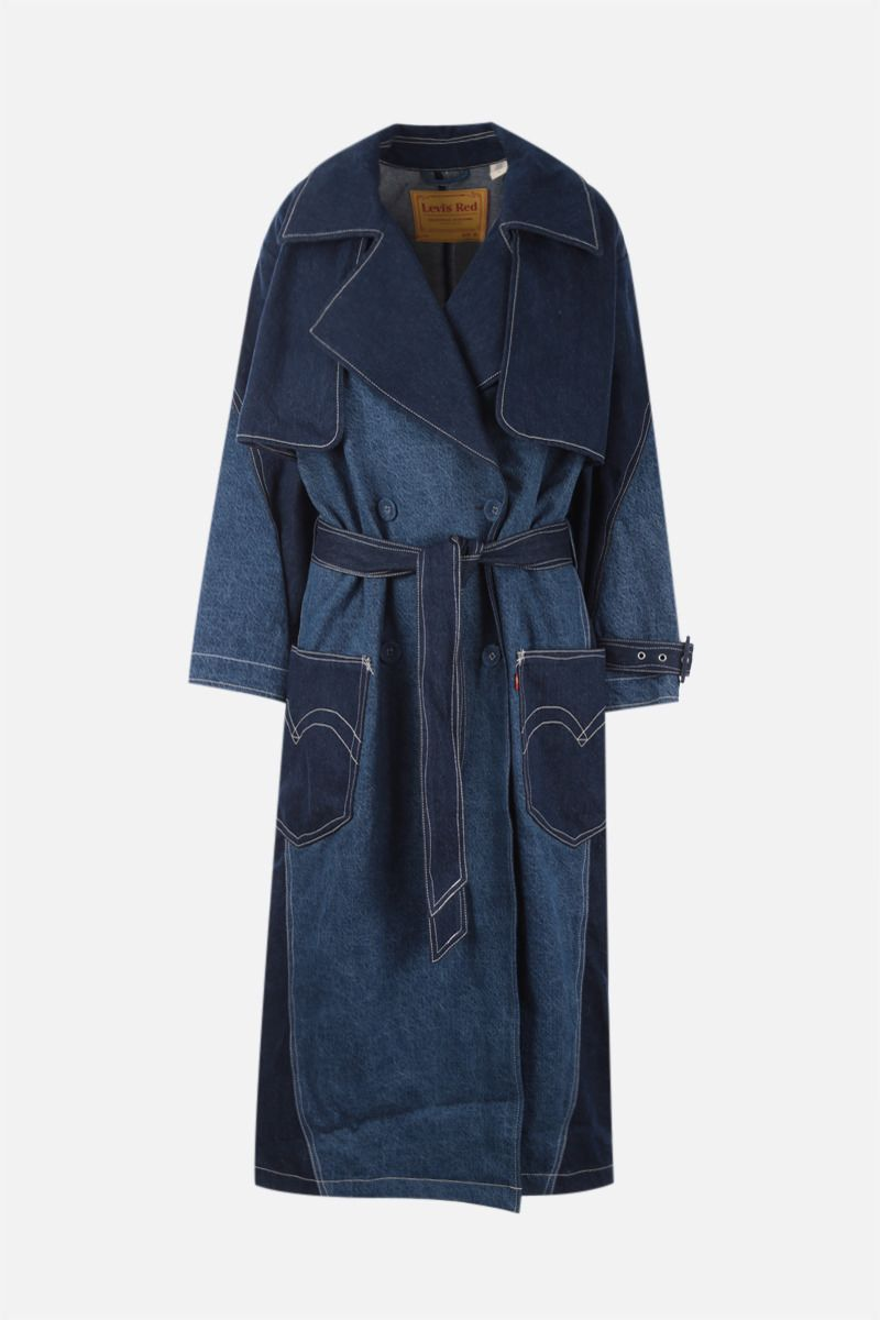 LEVI'S MADE & CRAFTED: trench Levi's® Red Twisted in denim Colore Blue_1