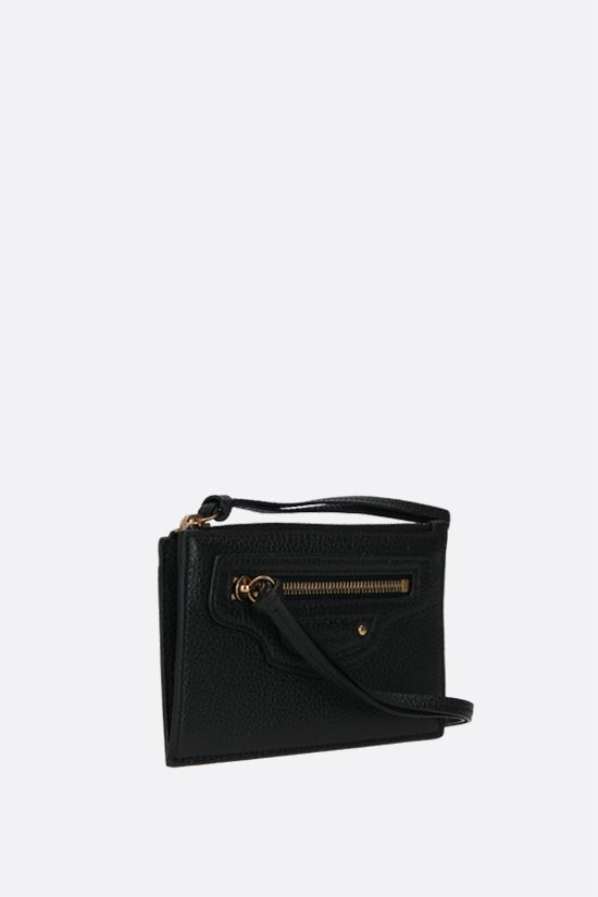 BALENCIAGA: Neo Classic grainy leather card case Color Black_2